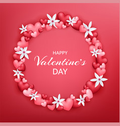 Happy valentines day beautiful and cute card with vector