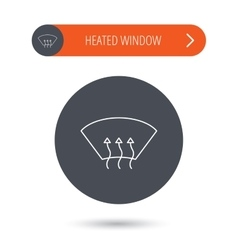 Heated window icon Windshield arrows sign vector image