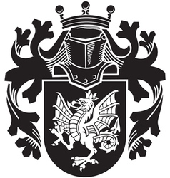 heraldic silhouette No14 vector image