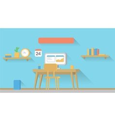Home Office Setup vector