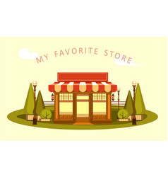 ice cream store vector image