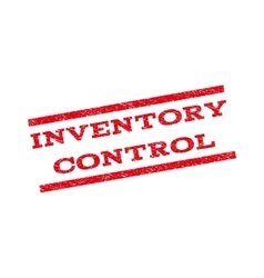Inventory Control Watermark Stamp vector image