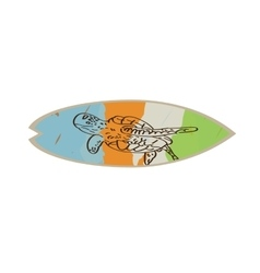 Isolated colored surfboard vector image vector image