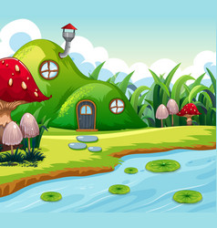 magic fairy house in nature vector image