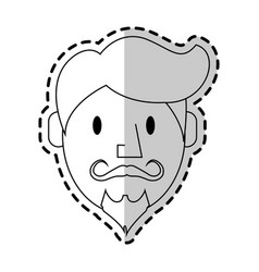 Man with vintage or hipster style icon image vector