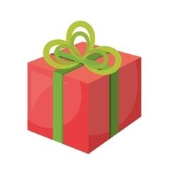 merry christmas gift celebration vector image