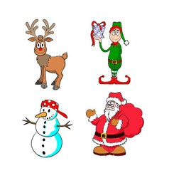 New Year Caracters vector image