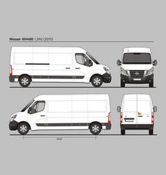 Nissan nv400 cargo delivery van l3h2 2015 vector