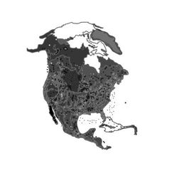 North america at night as engraving vector