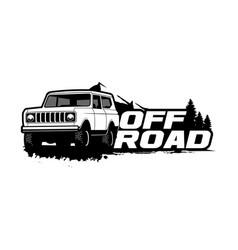 Off road logo template vector