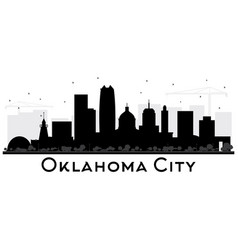 oklahoma city skyline silhouette with black vector image