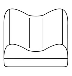 orthopedic pillow icon outline style vector image