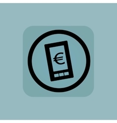 Pale blue euro screen sign vector