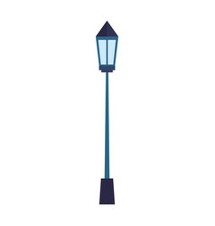 park lamp isolated icon vector image