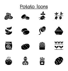 Potato icon set graphic design vector