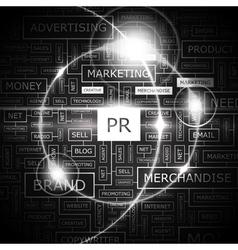 PR wordcloud vector