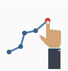 profit and gain concept businessmans hand vector image