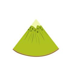 quarter of a slice of kiwifruit vector image