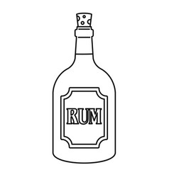 Rum icon outline style vector