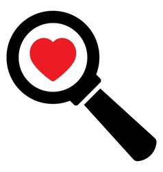 Search love icon vector image