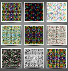 set of colored abstract striped backgrounds vector image