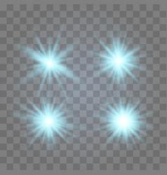 set of glowing lights vector image