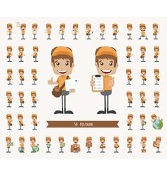 Set of postman character vector