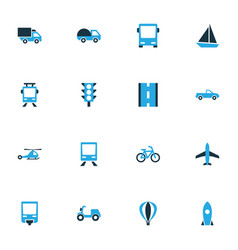 Shipment colorful icons set collection of bicycle vector