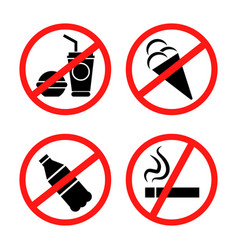 signs forbidding different actions vector image