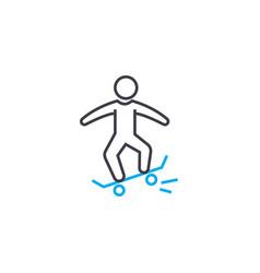 skateboarding linear icon concept skateboarding vector image