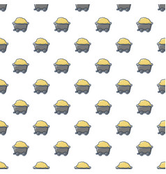 Small coal trolley pattern seamless vector