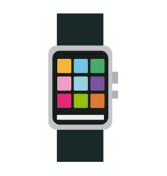 Smart watch wearable technology app icon vector