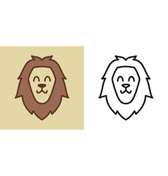 Smiling Happy Lion vector