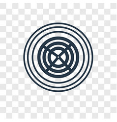 spider web concept linear icon isolated on vector image