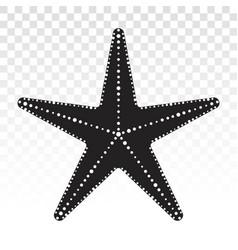 Starfish animals sea star fish marine life flat vector