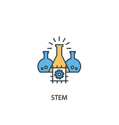 stem concept 2 colored line icon simple yellow vector image
