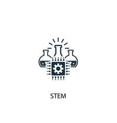 Stem icon simple element stem vector