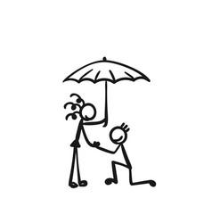 stick figures people romantic relationship man vector image
