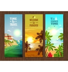 Travel agency sea vacation banners set vector