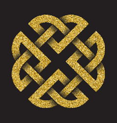 Tribal symbol in square cruciform maze form vector