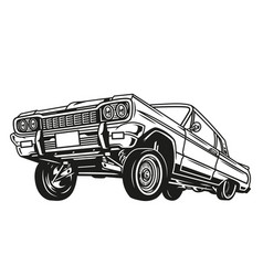 Vintage concept low rider retro car vector