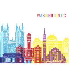 Washington dc v2 skyline pop vector