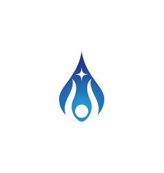 Water drop logo template design vector