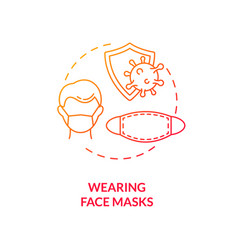 wearing face masks concept icon vector image