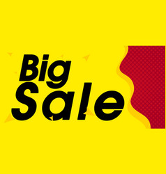 yellow big sale red background image vector image