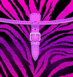 Zebra Fashion Bag vector