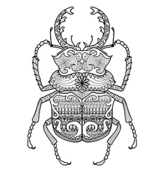 zentangle odontolabis cuvera bug vector image
