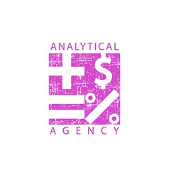 Logo analytical agency mathematical signs economy vector image vector image