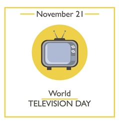 Television Day vector image
