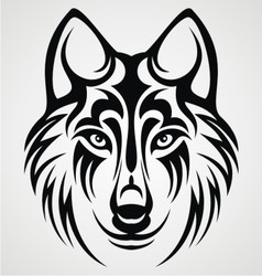 Tribal Wolf Head vector image vector image